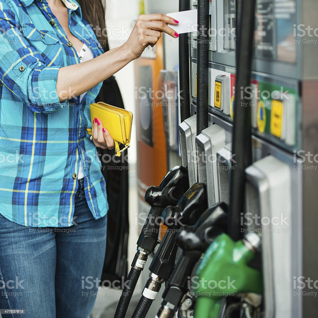Pay before drive stock photo