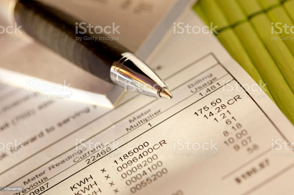 pay bills stock photo