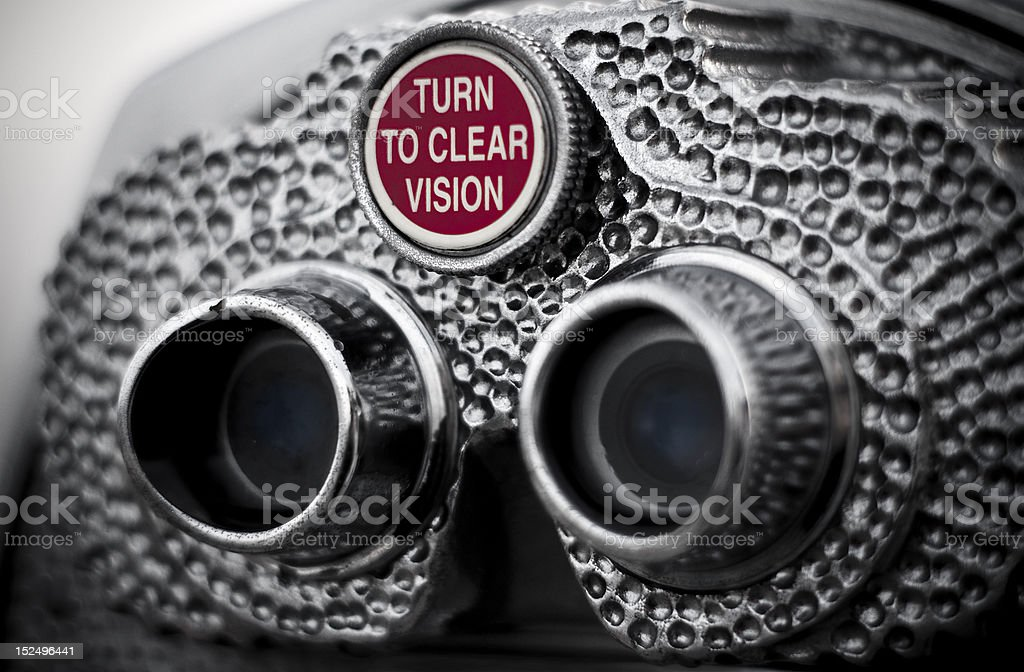 Pay Binoculars - Vision stock photo