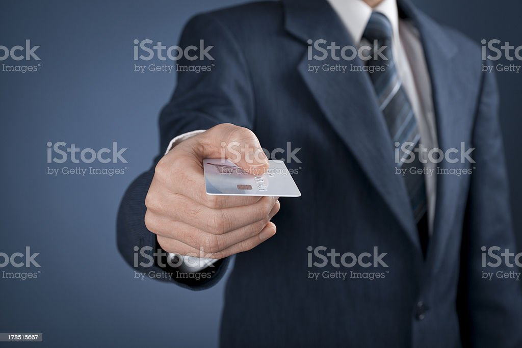 Pay by credit card stock photo
