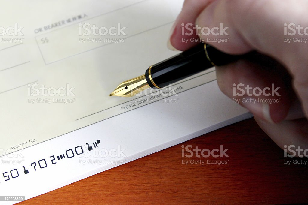 Pay Cheque royalty-free stock photo