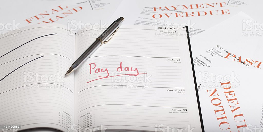 Pay day loan Pay day loan concept shot Anticipation Stock Photo