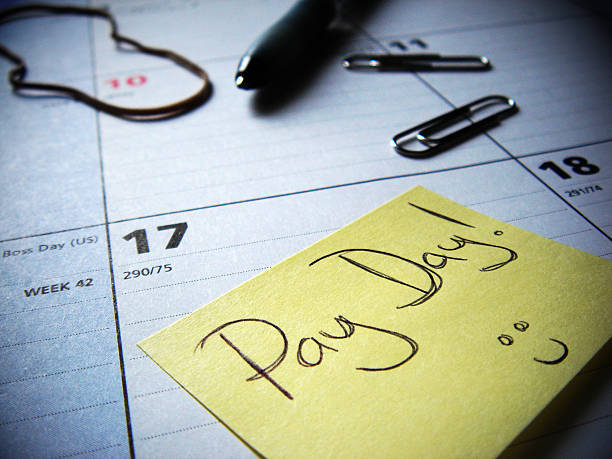 pay day soon - wages stock photos and pictures