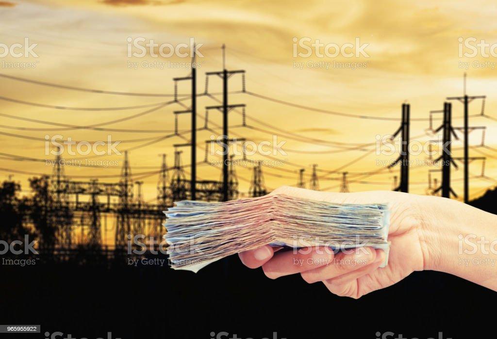 betalen voor elektriciteit - Royalty-free Apparatuur Stockfoto