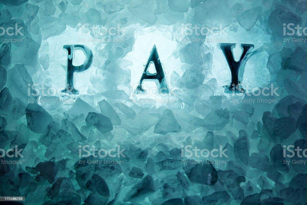 Pay Freeze stock photo