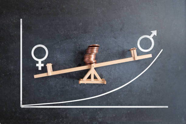 Pay gender inequality stock photo