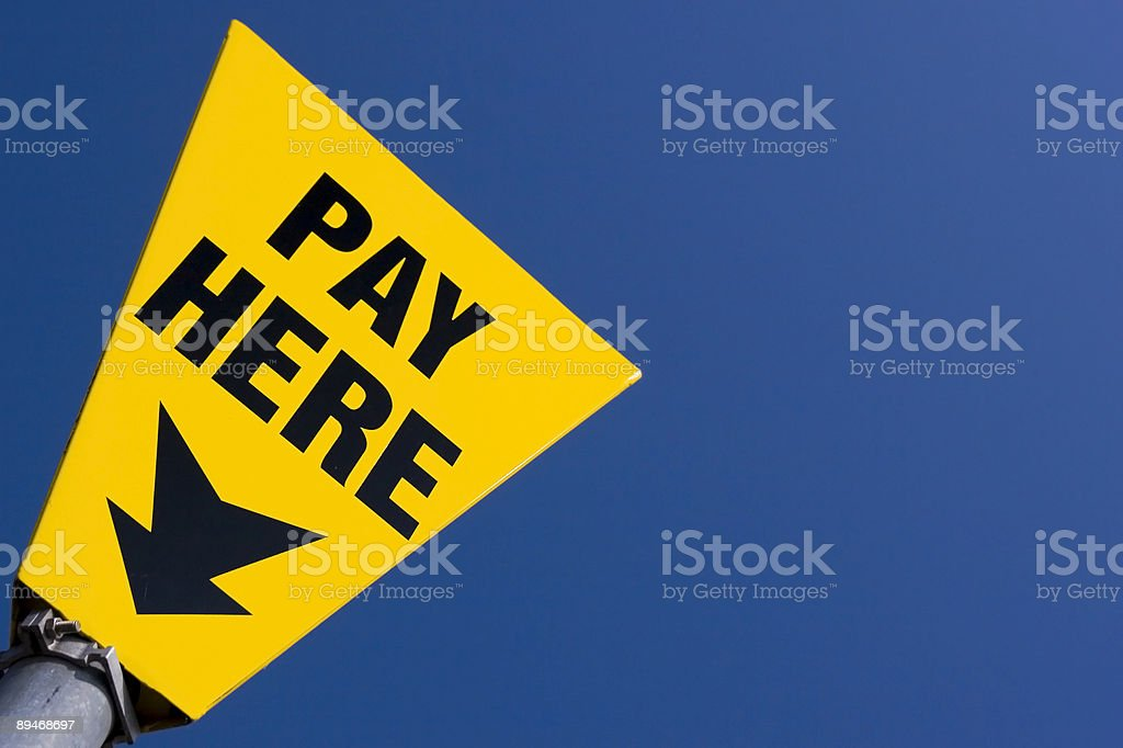 Pay here sign royalty free stockfoto