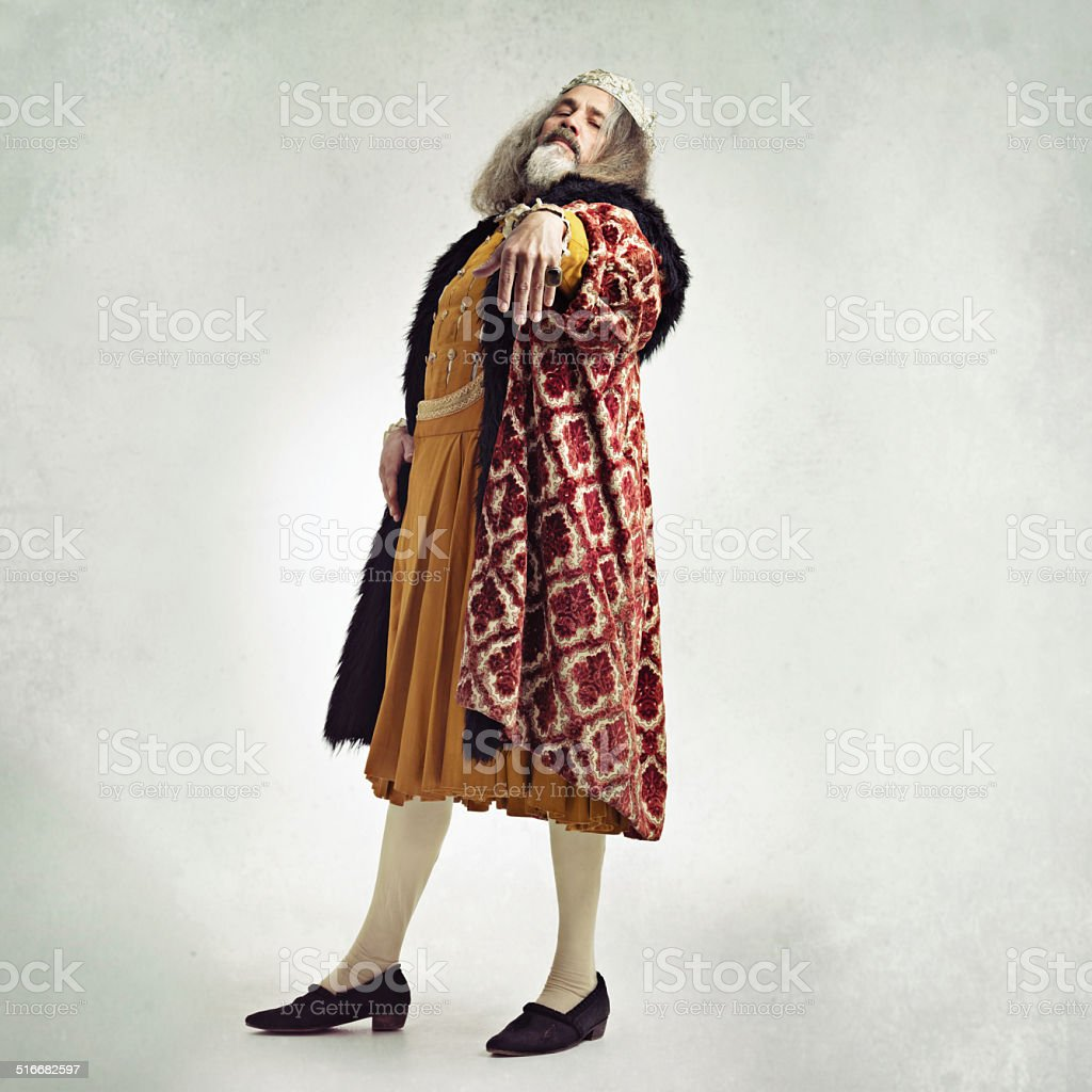 Pay homage to your king stock photo