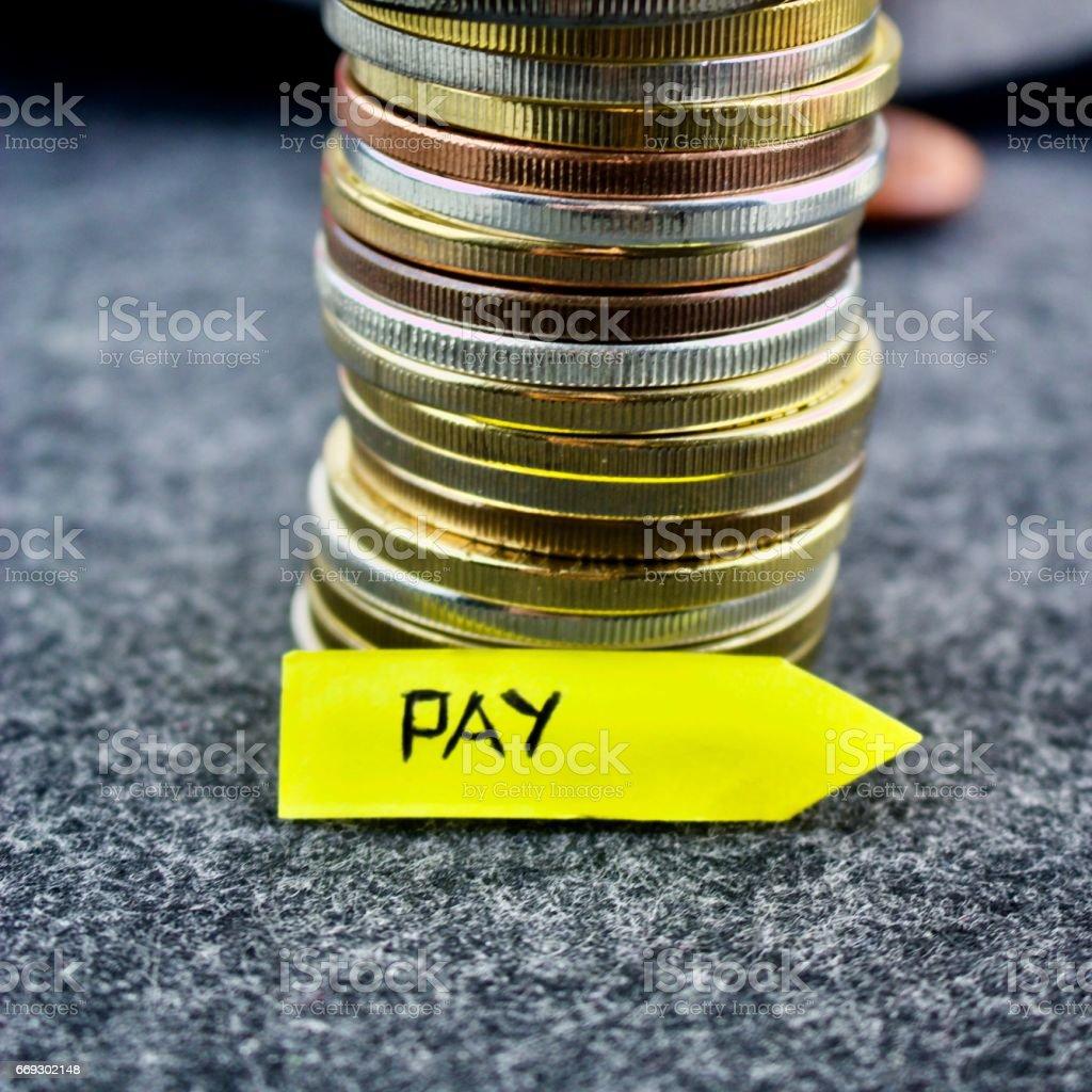 Pay money stock photo