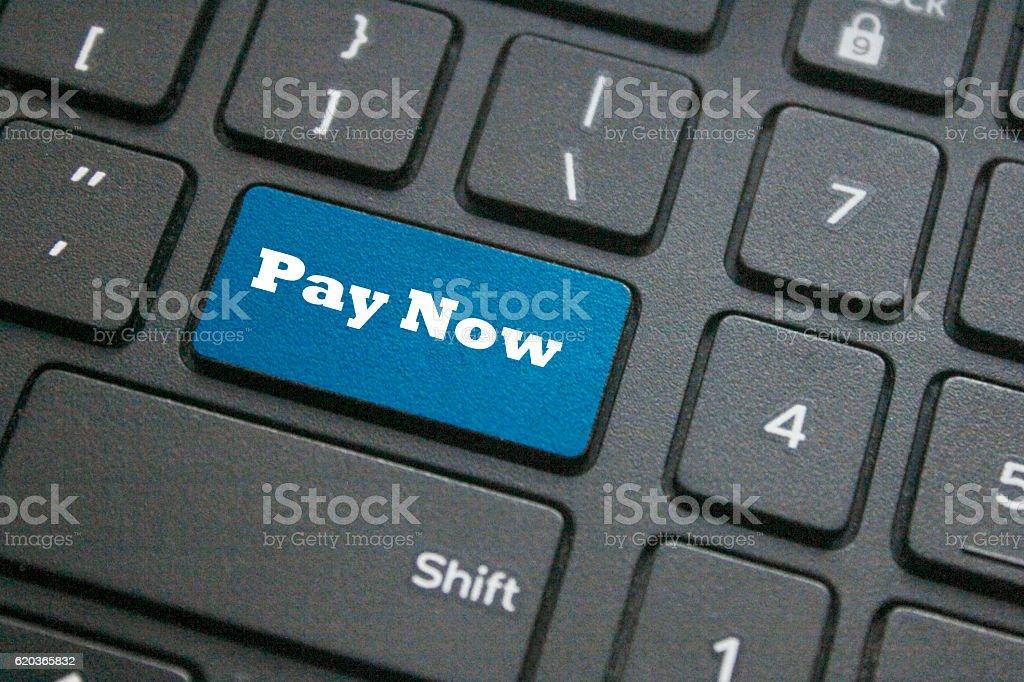 Pay Now key zbiór zdjęć royalty-free
