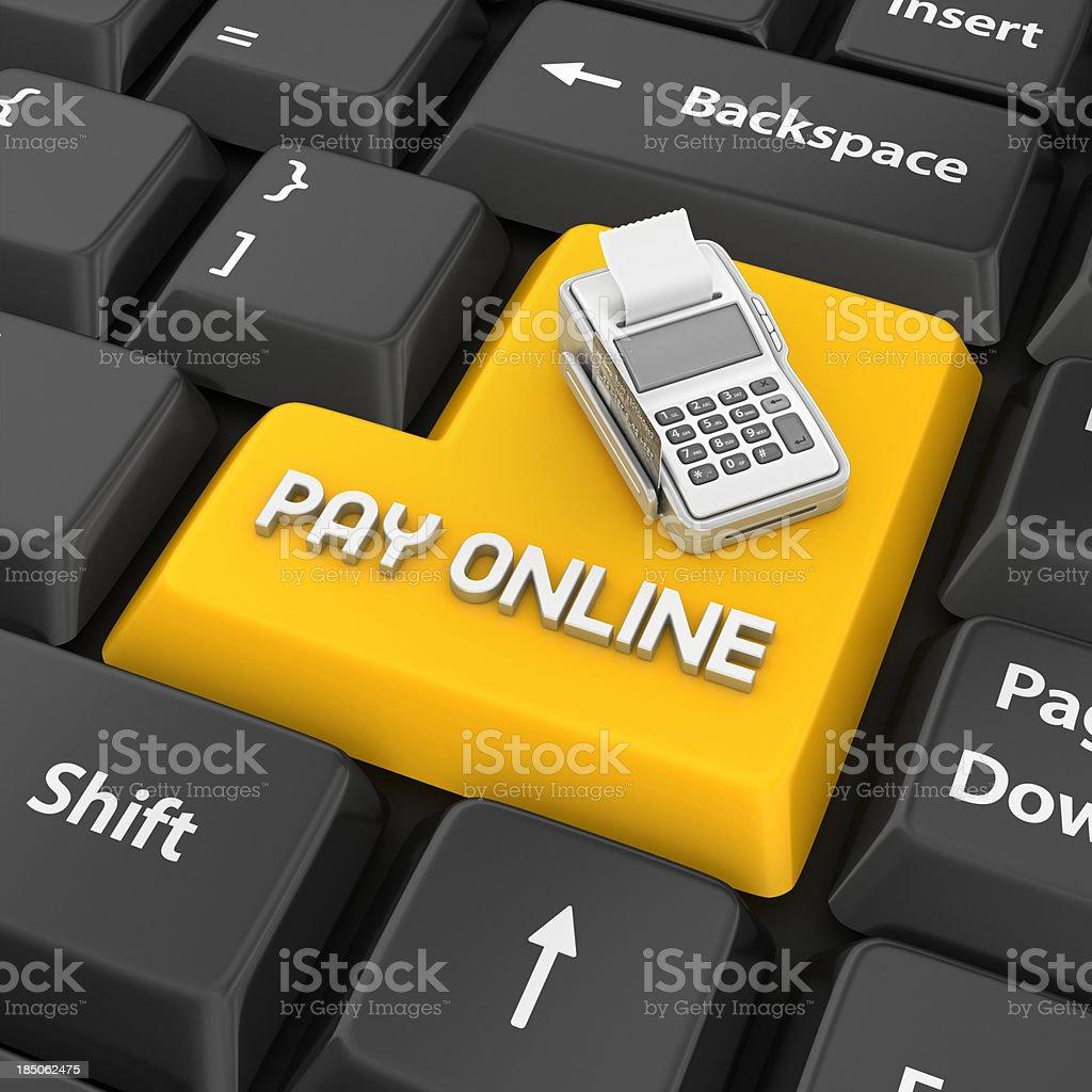 pay online enter key stock photo