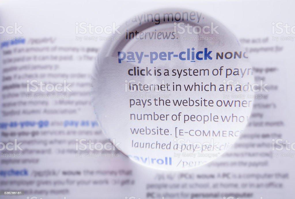 Pay per click stock photo