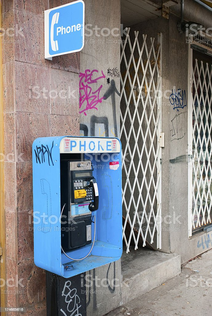 Pay phone - a dying breed royalty-free stock photo
