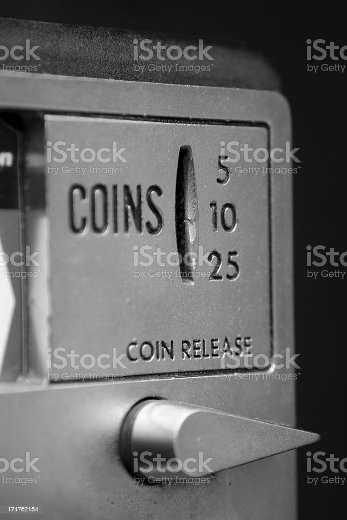 Pay phone coin release royalty-free stock photo