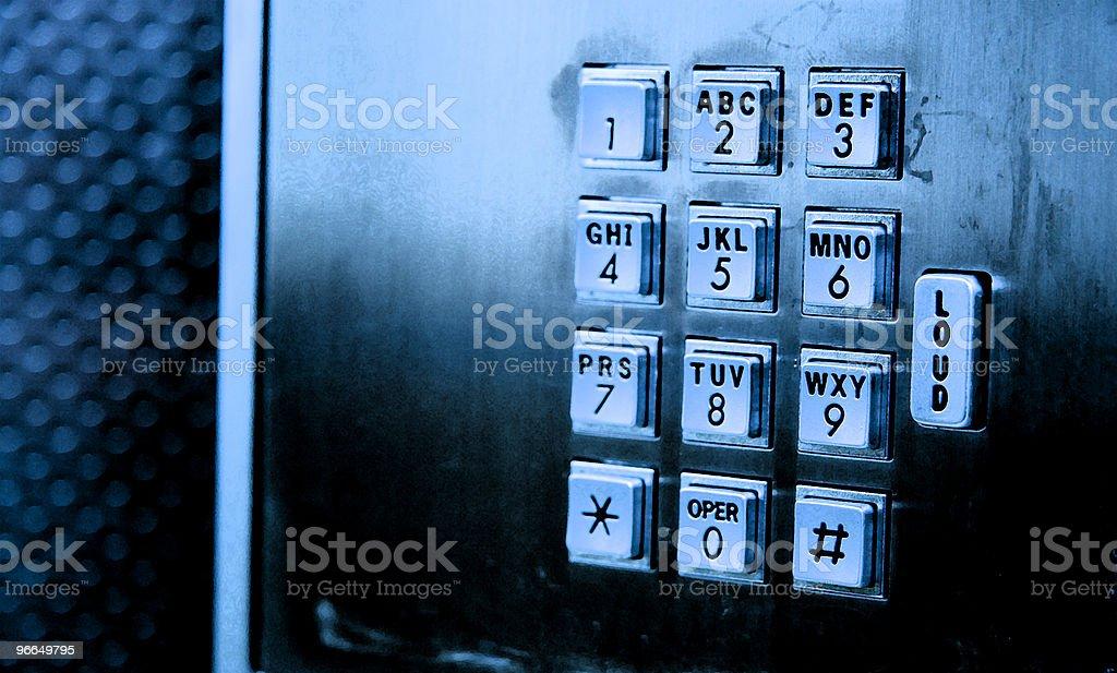 pay phone keypad royalty-free stock photo