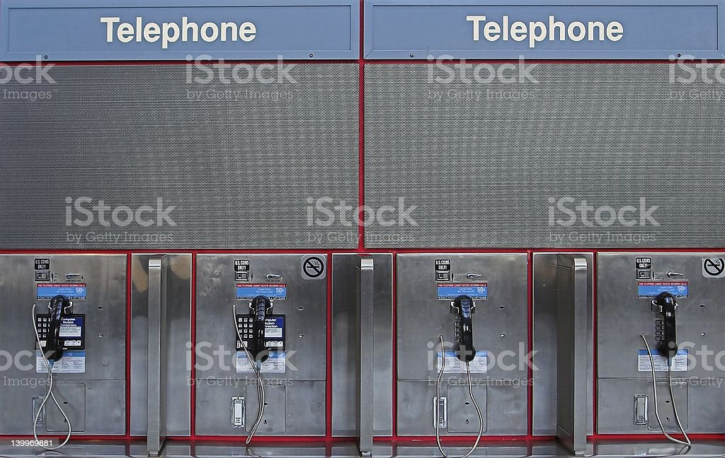pay phones royalty-free stock photo