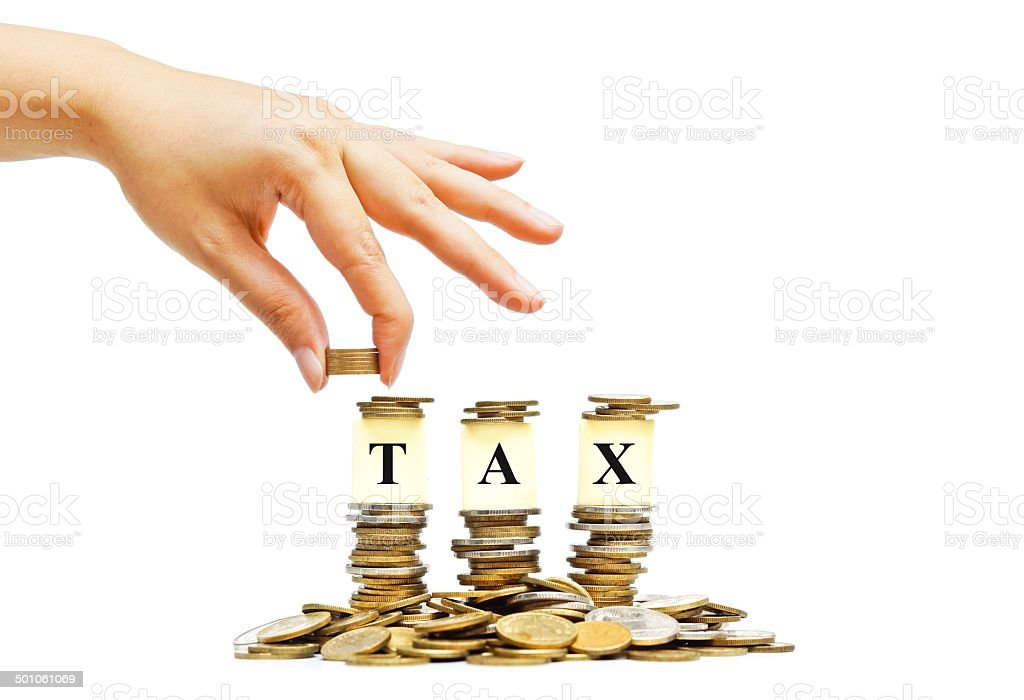 Pay tax stock photo