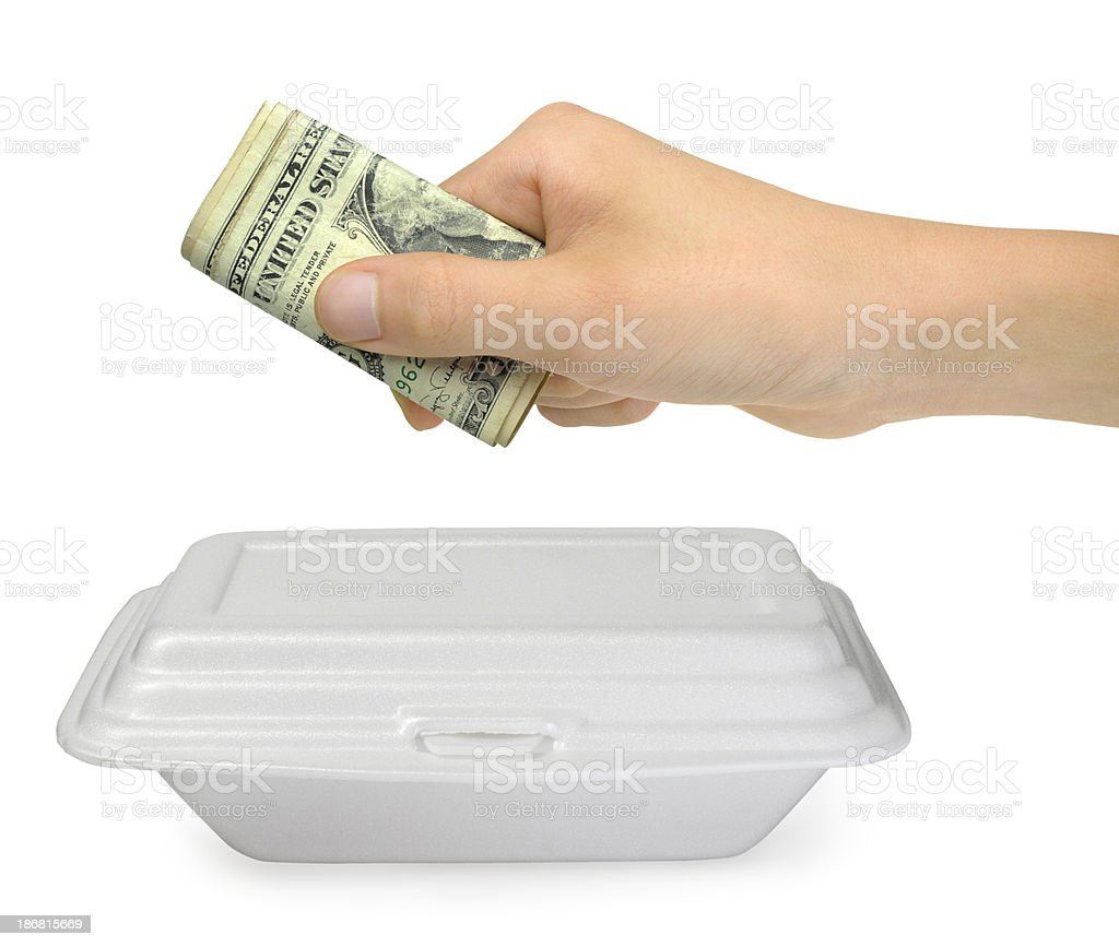 Pay the Lunch Box royalty-free stock photo