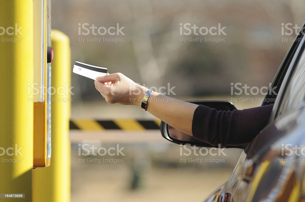 pay to park stock photo