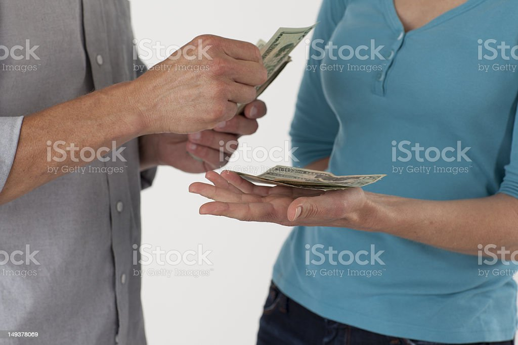 Pay with Cash royalty-free stock photo