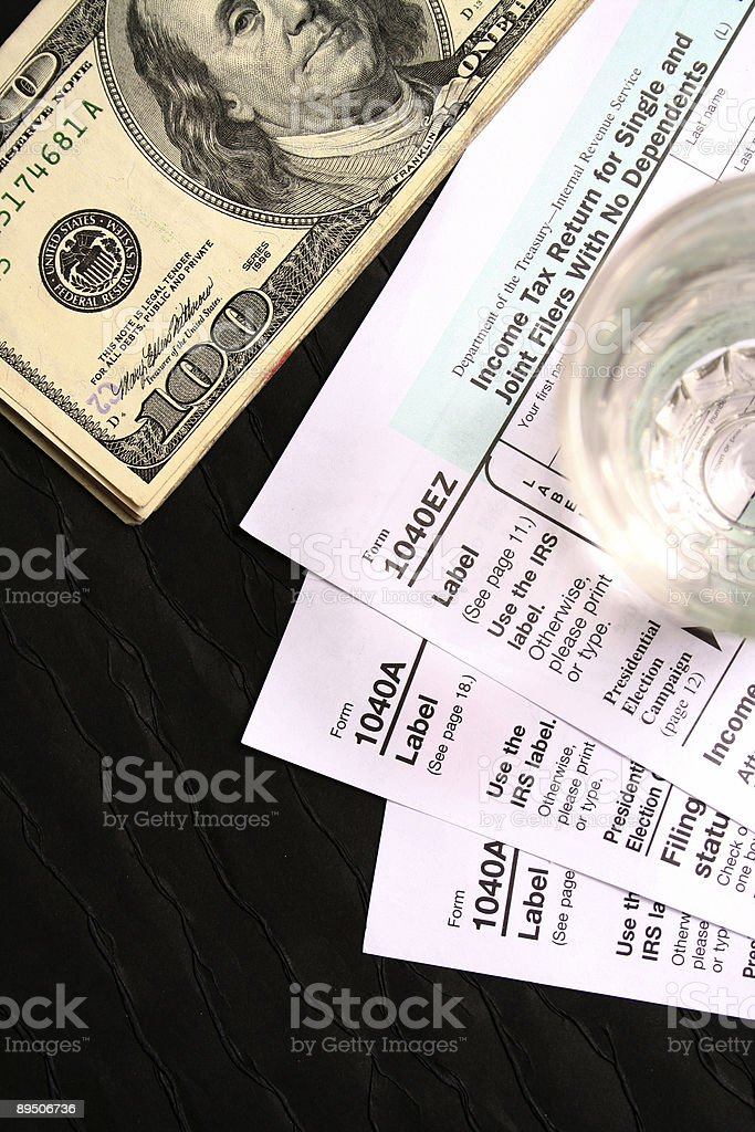Pay your tax royalty-free stock photo