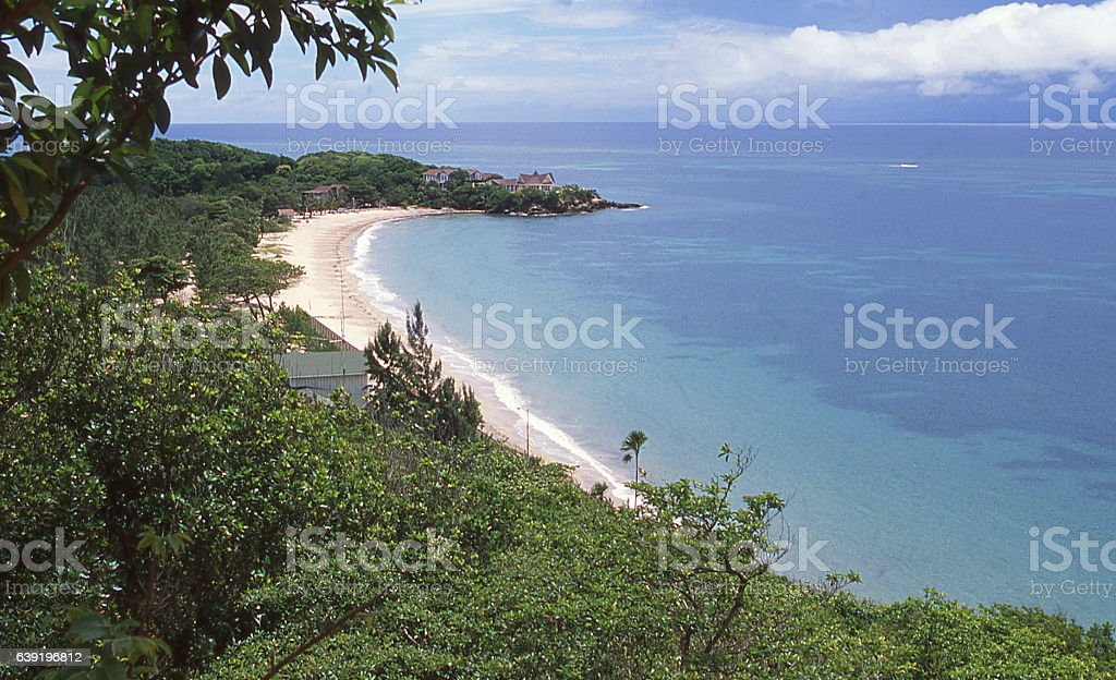 Paya Bay beach Eastern end of Roatan Bay Islands Honduras stock photo