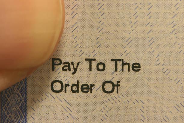 Paycheck stock photo