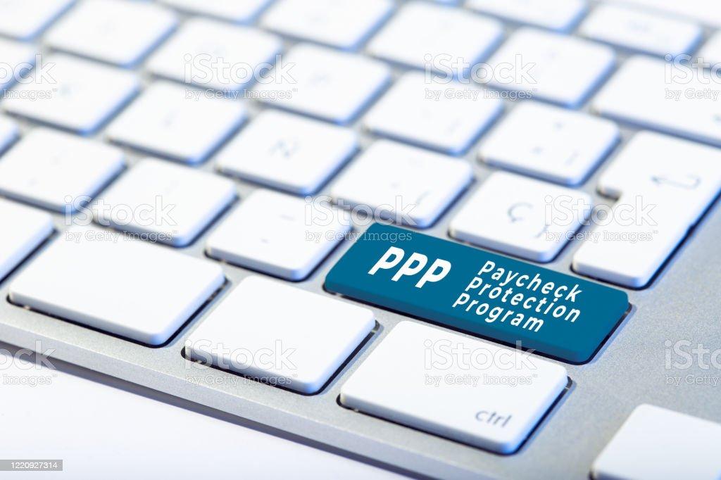 Concept du Programme de protection des chèques de paie PPP - Photo de Activité bancaire libre de droits