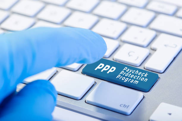 PPP Paycheck Protection Program concept stock photo