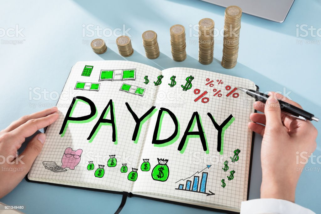 Payday Employee Compensation foto stock royalty-free