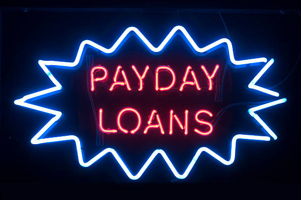 Payday Loans Sign stock photo