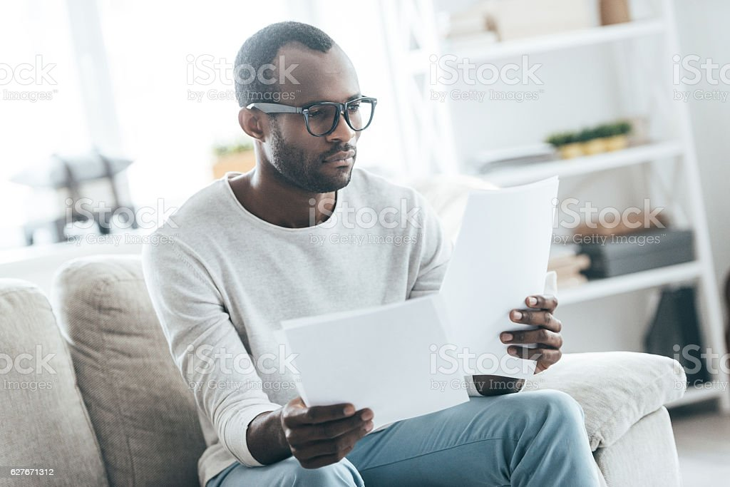 Paying attention to details. stock photo