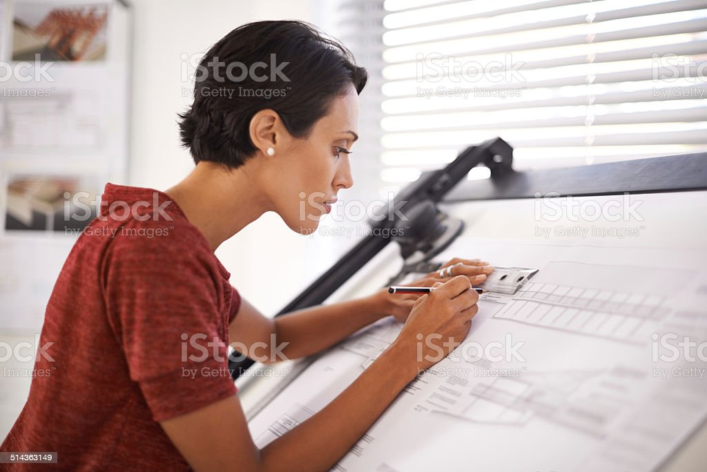 Paying attention to the finer details stock photo