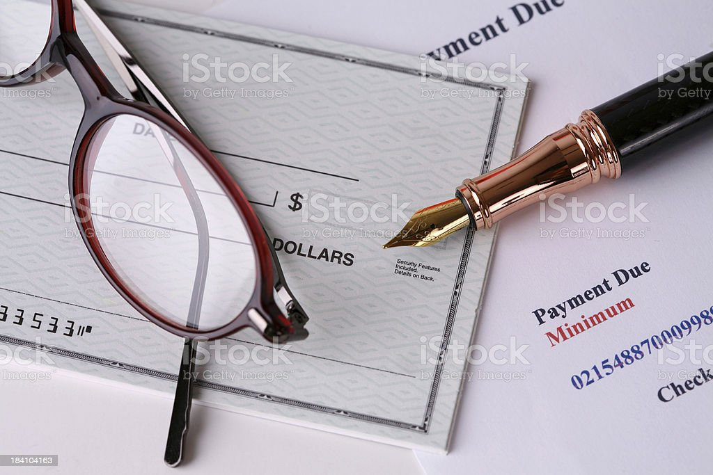 Paying Bills - Payment Due royalty-free stock photo