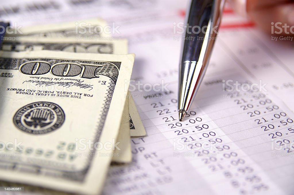 Paying bills royalty-free stock photo