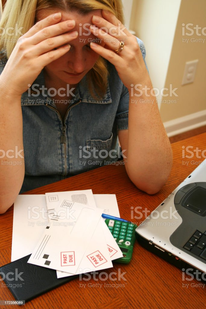 Paying Bills royalty-free stock photo