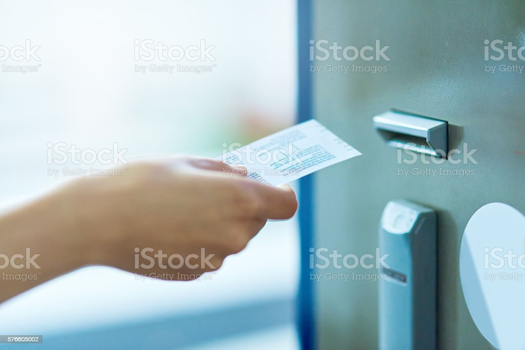 Paying for peace of mind stock photo