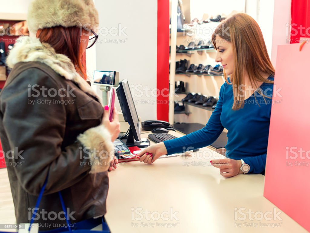 Paying for Purchases stock photo