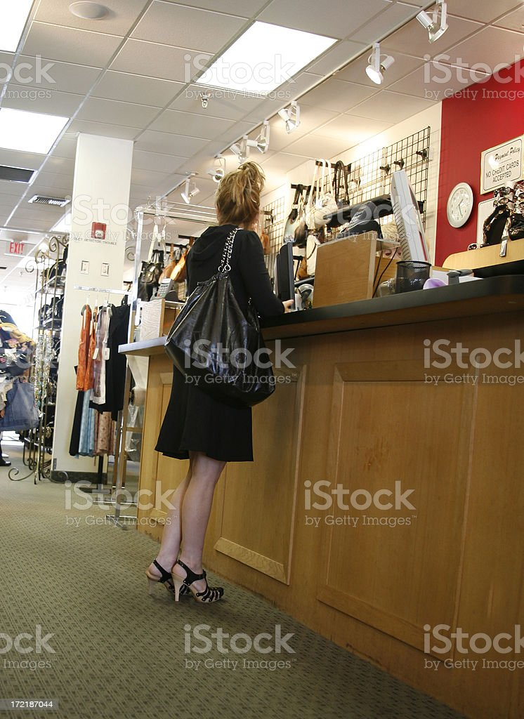 Paying for Shopping royalty-free stock photo