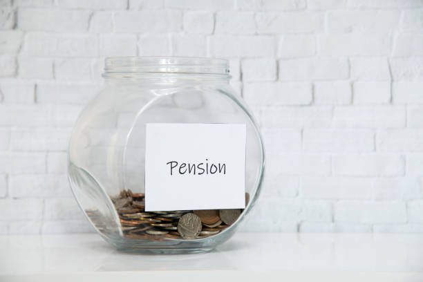 Paying into a Pension stock photo