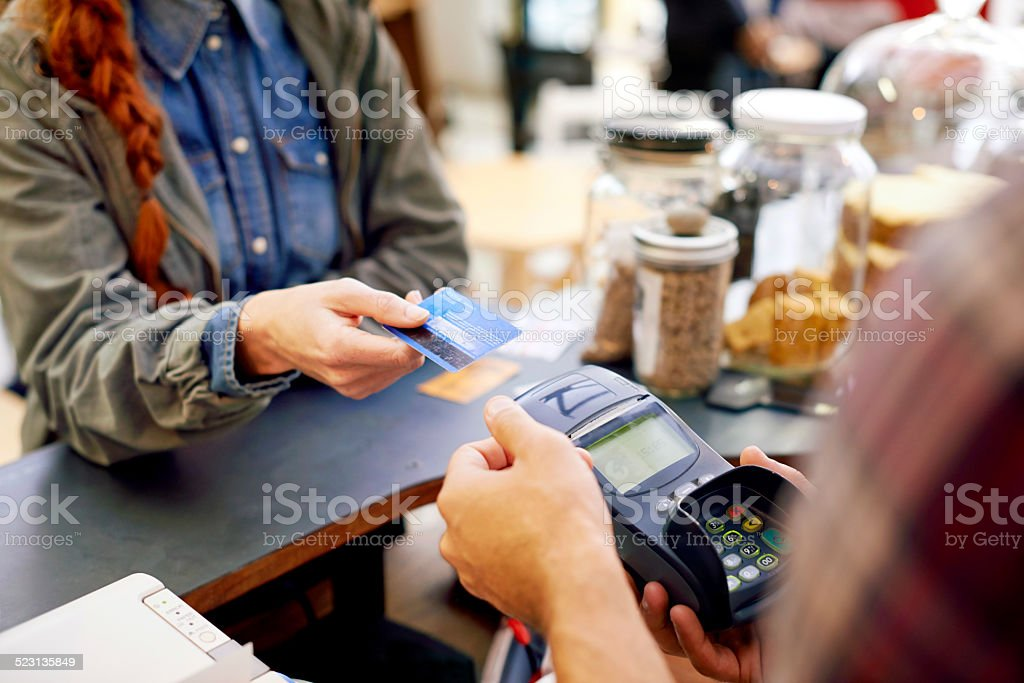 Paying made easy stock photo