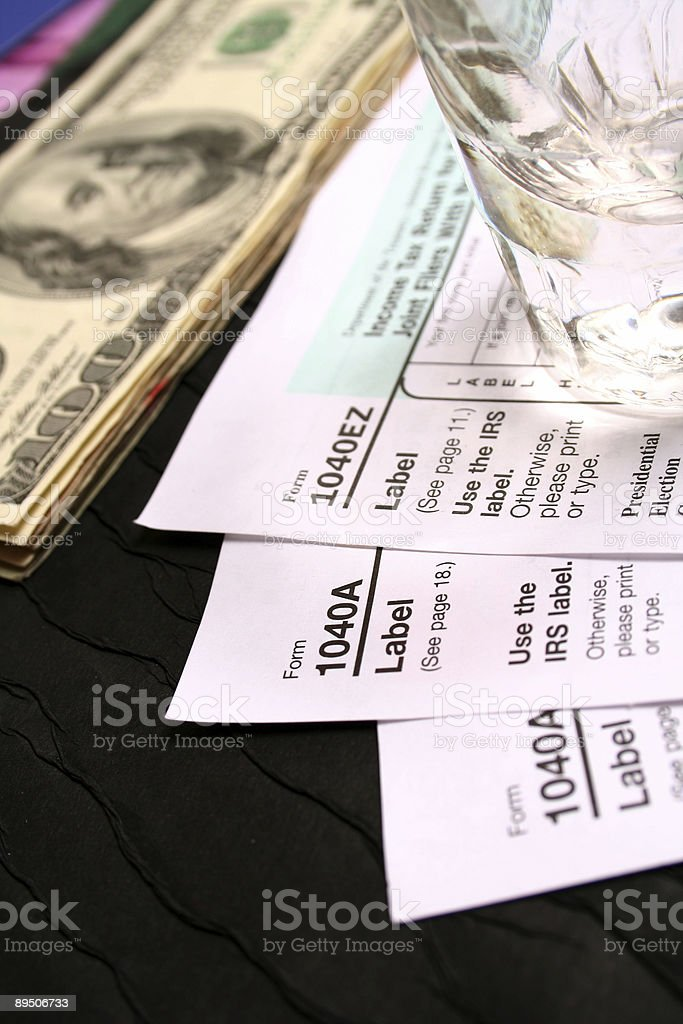 Paying tax royalty-free stock photo