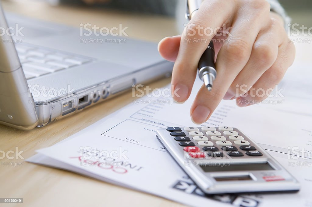 Paying The Bills royalty-free stock photo