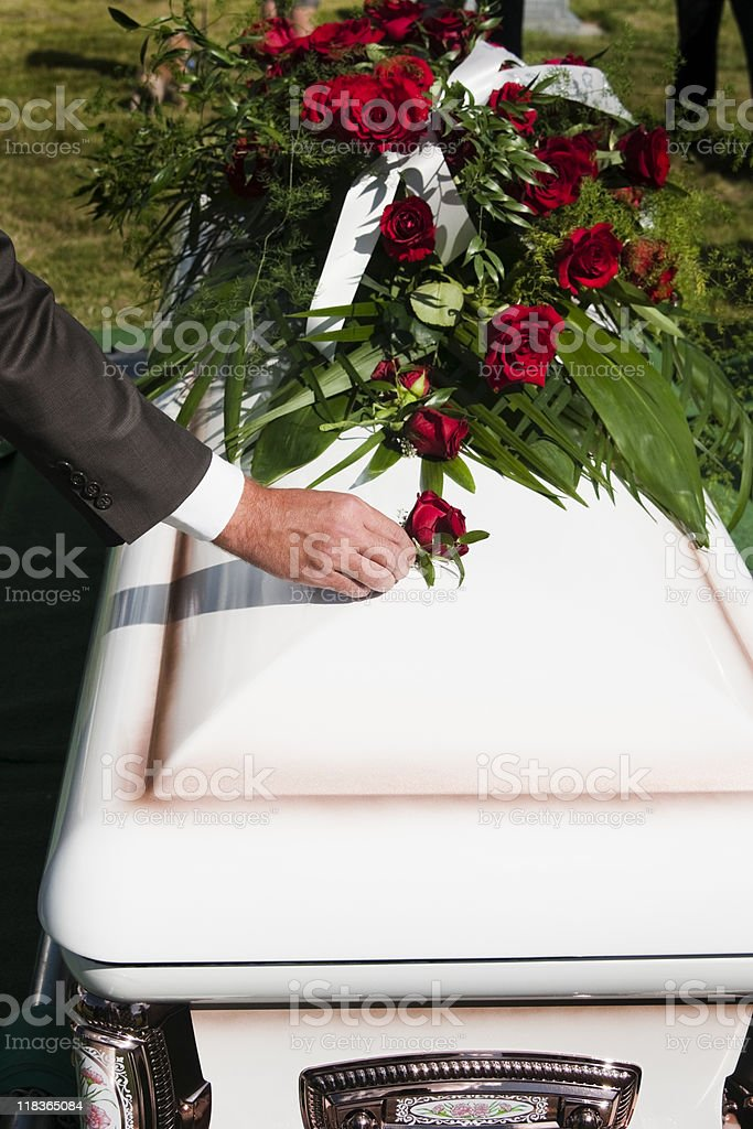 Paying Tribute stock photo