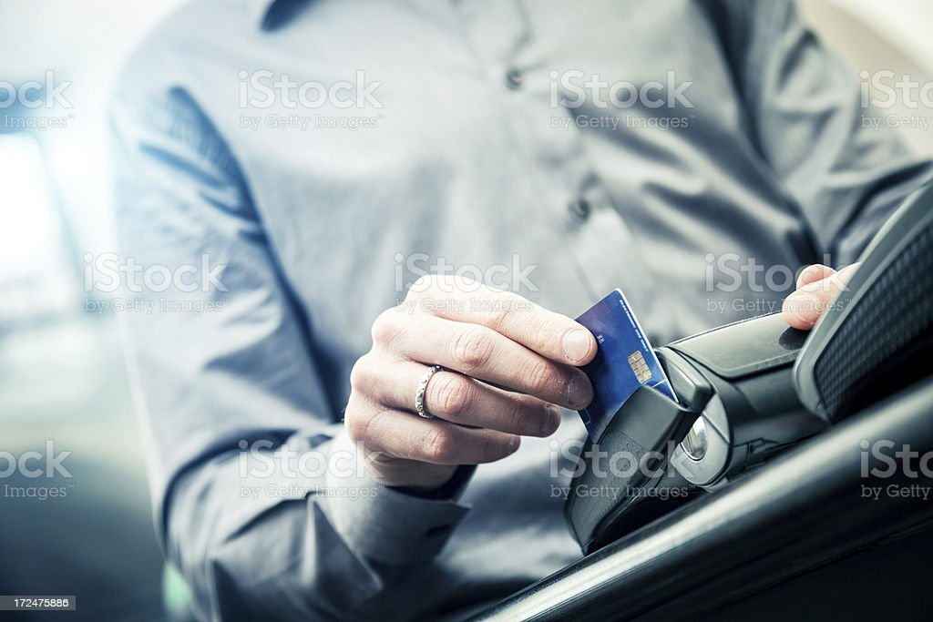 Paying with a credit card royalty-free stock photo
