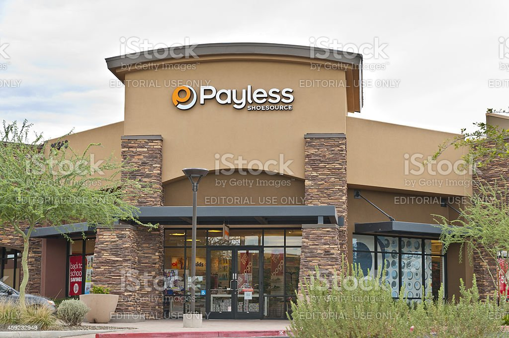 Payless Shoe Source Footwear Retail Store Front with Logo Sign stock photo