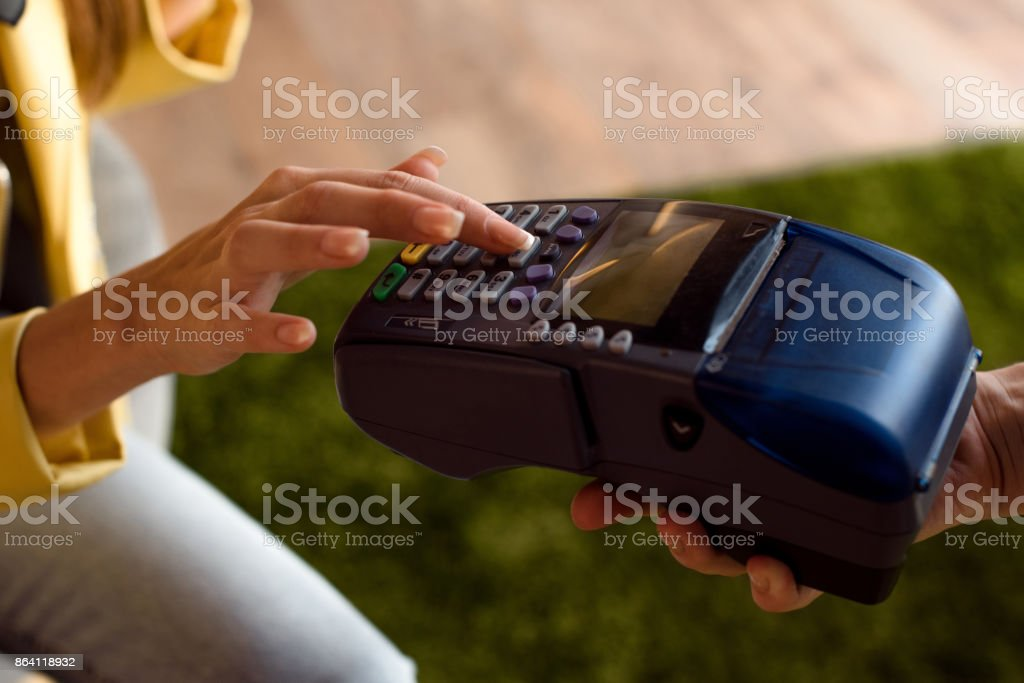 payment by mobile terminal royalty-free stock photo
