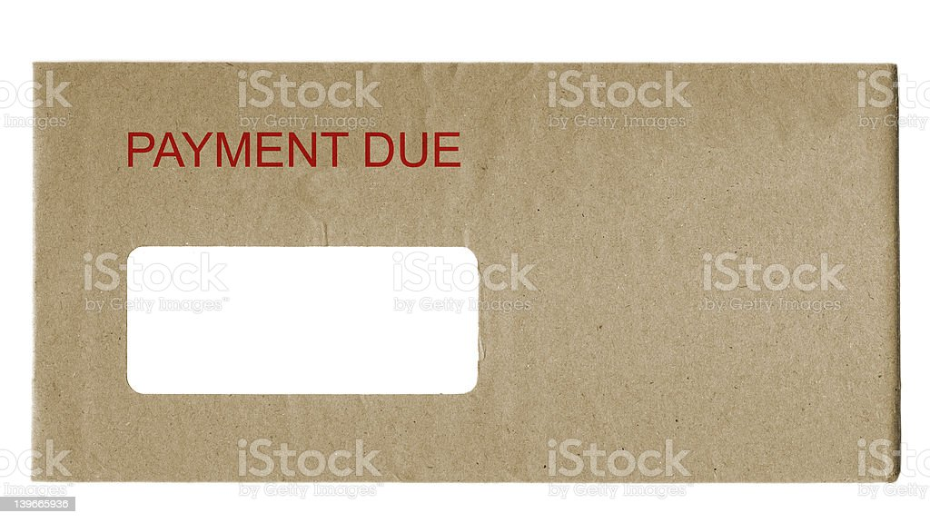 Payment Due royalty-free stock photo