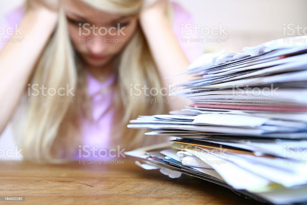 Payment Due stock photo