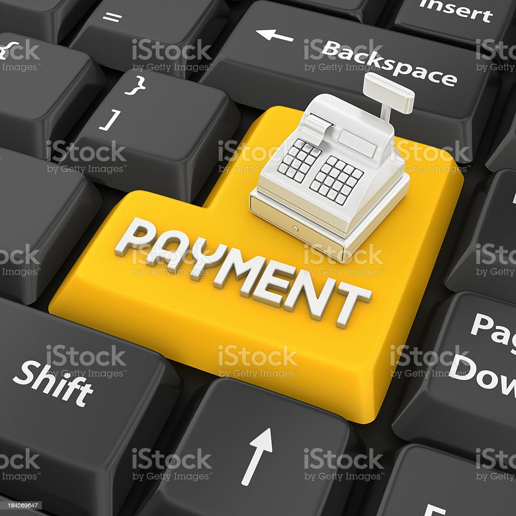 payment enter key royalty-free stock photo